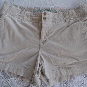 Womens 14 Sonoma Modern Tan Khaki Shorts EUC